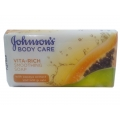 Johnsons Body Care Vita-Rich Smoothing Soap With Papaya Extract